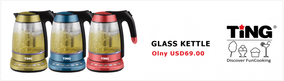 CORDLESS GLASS KETTLE
